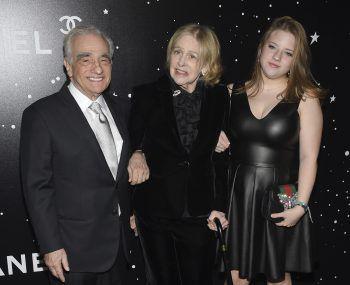 """<p>New York. Familiär: Regie-Legende Martin Scorsese mit seiner Frau Helen Morris und Tochter Francesca Scorsese im """"Museum of Modern Art Film"""".</p>"""