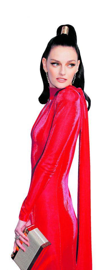 New York. Stilsicher: Die US-amerikanische Schauspielerin Lydia Herast nimmt an der Aids-Gala von Elton Johns Foundation teil.
