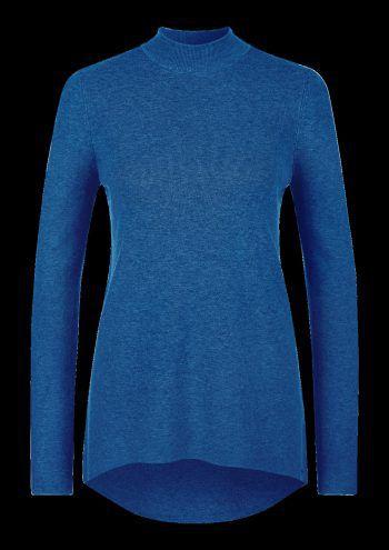 """<p class=""""caption"""">Rollkragenpullover in frischem Blau, Preis: 59,99 Euro, gesehen bei s.Oliver.</p>"""