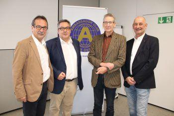 Walter Eberle, Wolfgang Herburger, Leo de Graaff und Johannes Hartl.