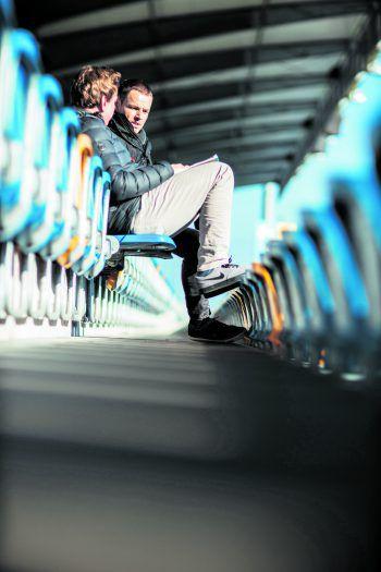 Werner Grabherr zu Gast im WANN & WO-Sonntagstalk in der Cashpoint Arena.Fotos: Sams