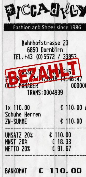 "<p class=""caption"">110 Euro: Karin Lorenz aus Dornbirn. Herrenschuhe.</p>"