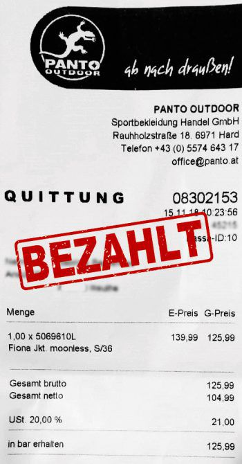 "<p class=""caption"">125,99 Euro: Sabrina Baurenhas aus Reuthe. Winterjacke.</p>"