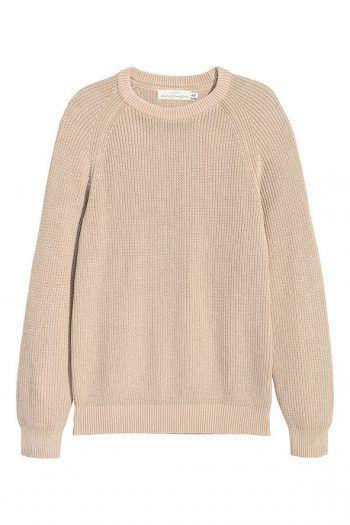 """<p class=""""caption"""">Hält warm und sieht stylish aus: Beiger Baumwollpullover von H&M um 29,99</p><p class=""""caption"""">Euro.</p>"""