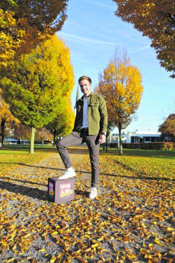Im Herbst mag es Simon aus Bregenz am liebsten bequem und casual.Fotos: handout/Drexel