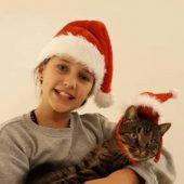 """<p class=""""caption"""">Kater Leo und Klaudia sind bereits in Weihnachtstimmung.Fotos: Privat</p>"""