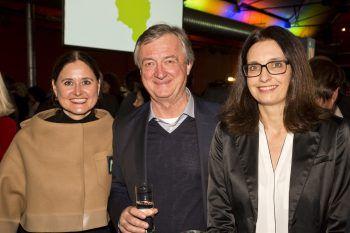 """<p class=""""caption"""">Alexandra Meusburger (Feinelast), Hubert Bertsch (Bertsch) und Martina Pointner.</p>"""