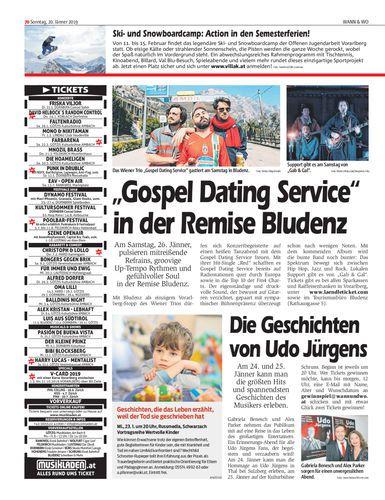 Gospel Dating Service in der Remise Bludenz - Wann & Wo