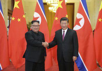 <p>Peking. Angekommen: Nordkoreas Präsident Kim Jong Un hat Chinas Präsident Xi Jinping getroffen. Ein Thema ist das Gipfeltreffen mit US-Präsident Trump.</p>