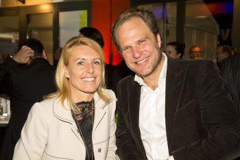 """<p class=""""caption"""">Petra Kreuzer (F.M. Hämmerle) und Heinz Senger-Weiss (Gebrüder Weiss).</p>"""