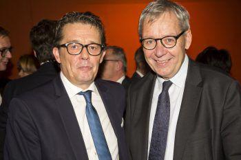 """<p class=""""caption"""">Präs. Hans-Peter Metzler (WKV) und Karlheinz Rüdisser.</p>"""
