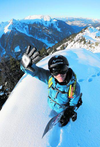 Snowboard-Pro Thomas Feurstein aus Schruns in seinem Element. Foto: Fabio Studer