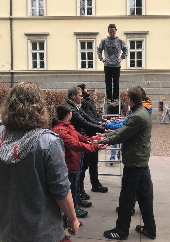 Beim Lehrgang lernen die Teilnehmer den Umgang mit Risiko.