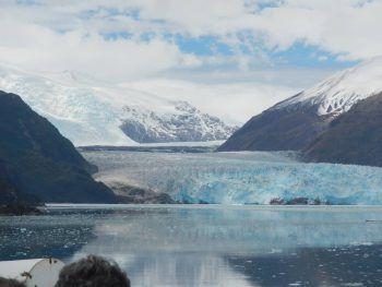 """<p class=""""caption"""">Der Amaliagletscher im Süden von Chile hat Conny besonders beeindruckt.</p>"""