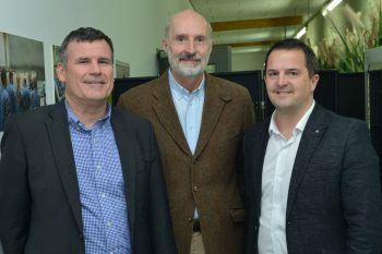 Dietmar Bechtold (Standortleiter Collini Hohenems), Prim. Dr. Georg Weinländer und Jürgen Kessler (GF Wirtschaftsbund Vorarlberg).