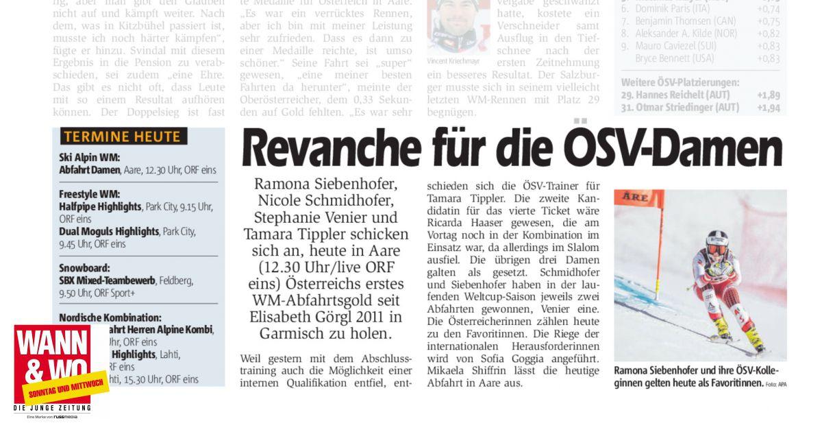 Revanche für die ÖSV-Damen - Wann & Wo