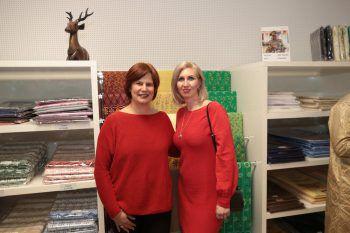 """<p class=""""caption"""">Chefdesignerin Brigitta Kleinhenz und Angela Erne.</p>"""