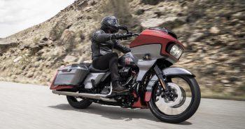 """<p class=""""caption"""">Ein echter Power-Cruiser: Die FDXR erinnert an muskullöse Drag-Bikes.</p>"""