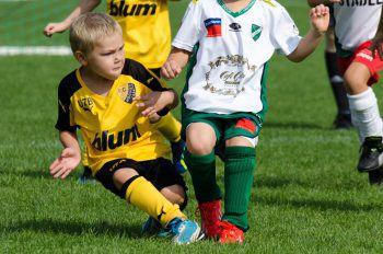 """<p class=""""caption"""">Leo (6) zeigt vollen Einsatz beim U7-Turnier für den FC Höchst.</p>"""