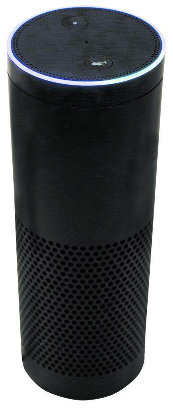Amazons Alexa ist ein Sprachassistent, der auf Befehle der Nutzer reagiert. Um ihn zu nutzen, benötigt man Equipment wie diesen Amazon Echo-Speaker. Foto: AP