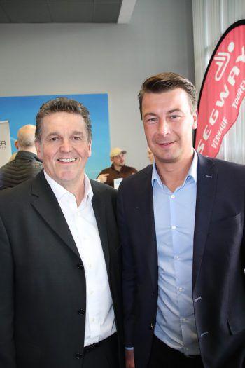 """<p class=""""caption"""">Bgm. Christian Natter und Jürgen Winder beim Unternehmertreff.</p>"""