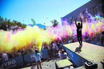 Am 14. Juni findet in Hard zum ersten Mal das Kinky Hip-Hop-Festival statt, am Samstag wird es bei Holi Flash wieder richtig bunt! Foto: Manuel Rusch