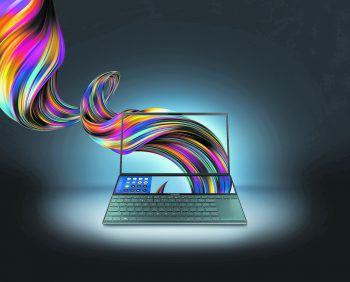 "Asus präsentierte das ""ZenBook Pro Duo"" mit zweitem Bildschirm. Foto: Asus"
