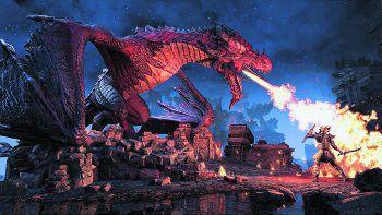 """""""Drachenzähmen schwer gemacht"""": Der DLC """"The Elder Scrolls Online: Elsweyr"""" erscheint am 4. Juni für PC, PS4 und Xbox One. Bilder: Codemasters, Nintendo, Bethesda"""