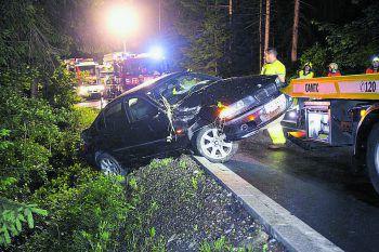 Am Auto entstand Totalschaden. Foto: Dieter Mathis