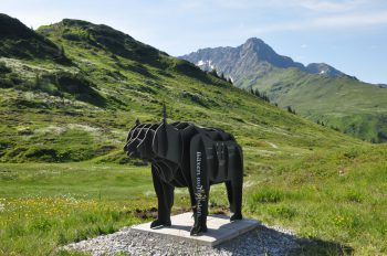 """<p class=""""title"""">               Bärenland              </p><p>Am Bärenweg am Sonnenkopf im Klostertal kann man sich mit dem braunen Tier messen und gleichzeitig an interaktiven Spielstationen mehr über den Alpenbewohner lernen. Auch das Bärenland ist ein beliebtes Ausflugsziel für Familien.</p>"""