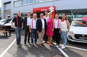"""<p class=""""caption"""">Das Gerster Team mit Christoph und Philipp Gerster sowie Verkaufsleiterin Karin Bischof.</p><p class=""""caption"""" />"""