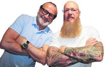 Helmut Sampl und Markus Knoop vom Metallbrillen-Hersteller Coblens.