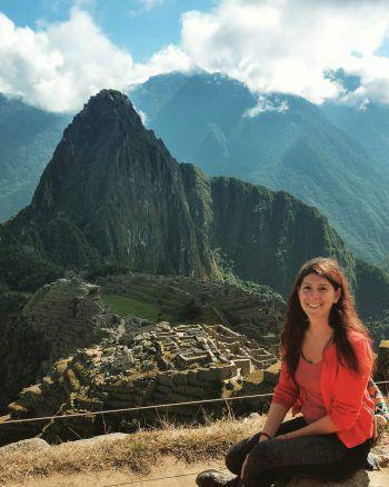 "<p class=""caption"">Melanie in Machu Picchu im Sommer 2017.</p>"