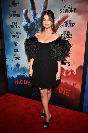 """New York. Pompös: In dieser edlen Robe ließ sich Superstar Selena Gomez bei der Premiere von """"The Dead Don't Die"""" auf dem """"Red Carpet"""" blicken."""
