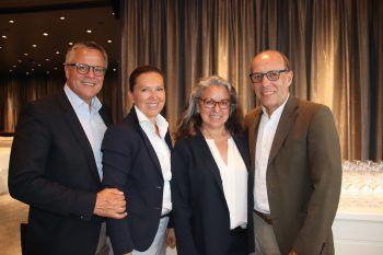 Roland und Birgitt Frühstück, Evelyn und Michael Rauth.