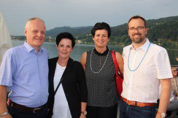 Werner und Sonja Gunz mit Petra und Markus Kirschner.