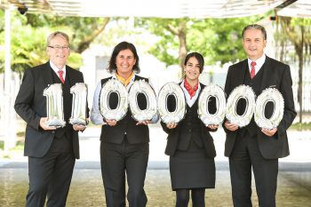 Casino-Team Gerhard Dell-Osbel, Eva Tagwerker, Anna-Lena Böhler und Knud Eric Stüble.
