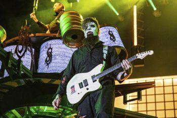 <p>Quebec City. Laut: Die Band Slipknot performt auf dem kanadischen Festival d'eté de Quebec.</p>
