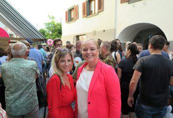 Silvia Plangg und Wiebke Meyer genossen den Abend in Bludenz.