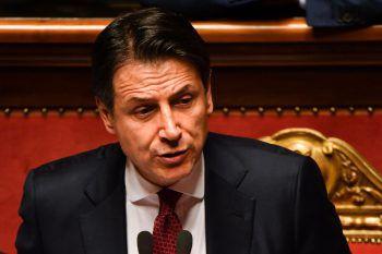 Conte gestern im Senat in Rom.Foto: AFP