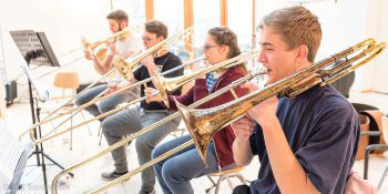 Das Sinfonische Blasorchester Vorarlberg hat schon Spitzenplatzierungen bei internationalen Wettbewerben gemacht. Foto: handout/Irmgard Müller