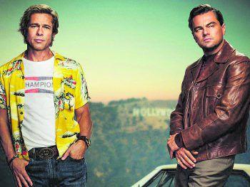 Dynamisches Buddy-Duo: Brad Pitt und Leonardo DiCaprio brillieren im neuen Tarantino-Streifen.Fotos: Sony, AP