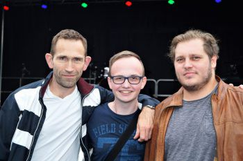 "<p class=""caption"">Regisseur Hajo Förster, Zauberkünstler TimRambeaud und Heilmasseur Lucas Schlachter.</p><p class=""caption"" />"