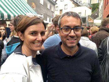 "<p class=""caption"">Sabine Gantner-Doshi und Sanjay Doshi.</p><p class=""caption"" />"