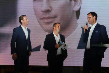 Sebastian Kurz, Jürgen Kessler und Markus Wallner.