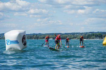 Spaß und jede Menge Paddel-Action erwartet die Besucher am 24. und 25. August bei der Bodensee SUP Challenge.Fotos: handout/Ländle SUP