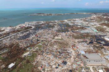 Auf den Abaco Inseln wurden 90 Prozent der Infrastruktur und der Häuser durch den Hurrikan zerstört. Die Anzahl an Todesopfern steigt weiter.Foto: AP