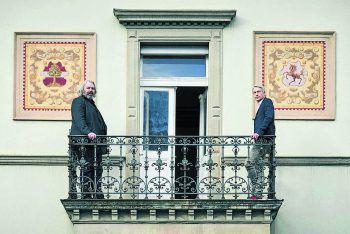 Ganz unterschiedliche künstlerische Positionen: Alexander Waltner und Marco Spitzar.