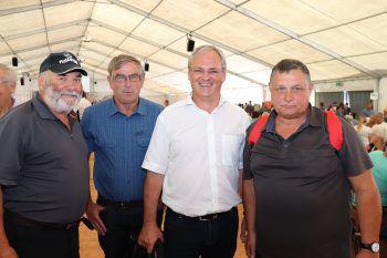 """<p class=""""caption"""">Hubert Gassner, Peter Beck, Harald Sonderegger und Rudi Mock beim Tag der offenen Tür.</p><p class=""""caption"""" />"""