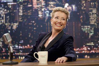 Katherine ist der Star ihrer eigenen Late Night Show. Doch hinter den Kulissen derSendung kriselt es gewaltig im Kollegium.Foto: Filmstarts